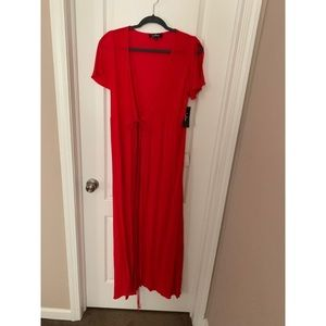 Lulu's Much Obliged Red Wrap Dress